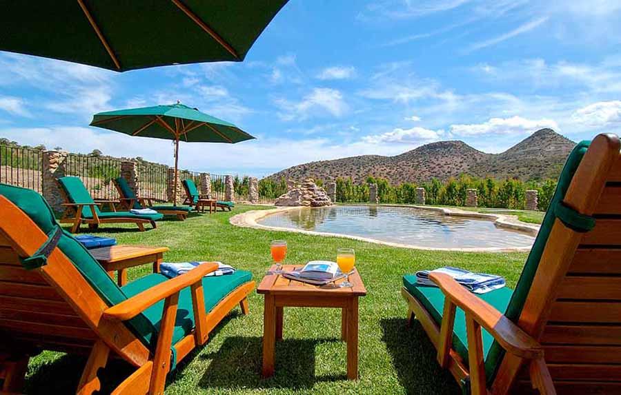Rietfontein Klein Karoo Guest Cottages Pool area
